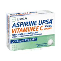 ASPIRINE UPSA VITAMINEE C TAMPONNEE EFFERVESCENTE, comprimé effervescent à TOURS