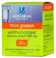 Acetylcysteine Biogaran Conseil 200 Mg Pdr Sol Buv En Sachet B/20