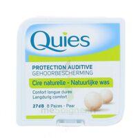 QUIES PROTECTION AUDITIVE CIRE NATURELLE 8 PAIRES à TOURS