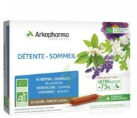 Arkofluide Bio Ultraextract Solution Buvable Détente Sommeil 20 Ampoules/10ml à TOURS