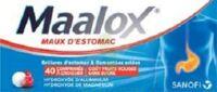 MAALOX MAUX D'ESTOMAC HYDROXYDE D'ALUMINIUM/HYDROXYDE DE MAGNESIUM 400 mg/400 mg SANS SUCRE FRUITS ROUGES, comprimé à croquer édulcoré à la saccharine sodique, au sorbitol et au maltitol à TOURS
