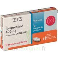 IBUPROFENE TEVA CONSEIL 400 mg, comprimé pelliculé à TOURS