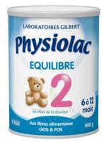 PHYSIOLAC EQUILIBRE 2 Lait pdre B/900g à TOURS