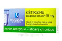 CETIRIZINE BIOGARAN CONSEIL 10 mg, comprimé pelliculé sécable à TOURS